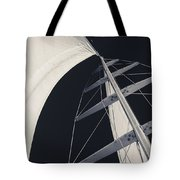 Obsession Sails 5 Black And White Tote Bag