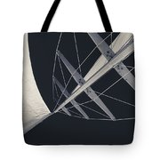 Obsession Sails 7 Black And White Tote Bag