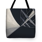 Obsession Sails 8 Black And White Tote Bag