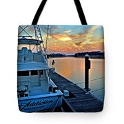 Ocean Addiction Sunset Tote Bag