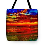 Landscape Ocean Sunset Tote Bag