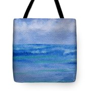 Gentle Ocean Waves -  Original Watercolor Tote Bag