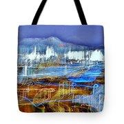 Ocean City Maryland At Night - Blue Tote Bag