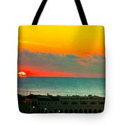 Ocean City Sunrise Over Music Pier Tote Bag