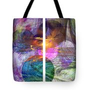 Ocean Fire - Square Version Tote Bag