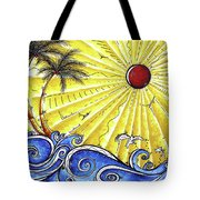 Ocean Fury By Madart Tote Bag