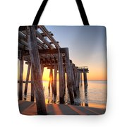 Ocean Grove Pier Sunrise Tote Bag