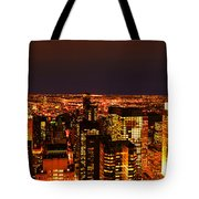 Ocean Of Light New York City Usa Tote Bag