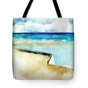 Ocean Pier In Key West Florida Tote Bag