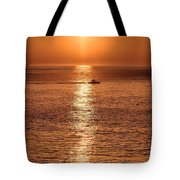 Ocean Sunrise At Montauk Point Tote Bag