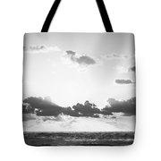 Ocean Sunrise Black And White Tote Bag