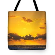 Ocean Sunrise Clouds Tote Bag