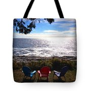 Ocean View At Pemaquid Point Maine Tote Bag