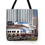 Oceanfront Boardwalk Tote Bag