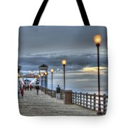 Oceanside Pier At Sunset Tote Bag