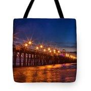 Oceanside Pier Evening Tote Bag