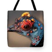 Ocellated Turkey Portrait Tote Bag