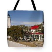Ocracoke Island Lighthouse Img 3529 Tote Bag