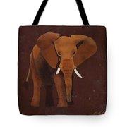Ocre Elephant Tote Bag