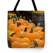 October At The Farm - Pumpkins Tote Bag