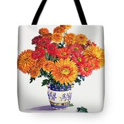 October Chrysanthemums Tote Bag by Christopher Ryland