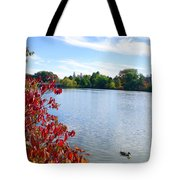 October On The Lake Tote Bag