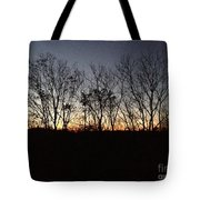 October Sunset Trees Silhouettes Tote Bag