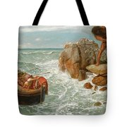 Odysseus And Polyphemus Tote Bag