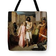 Oedipus And Antigone Or The Plague Of Thebes  Tote Bag