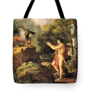 Oedipus And The Sphinx Tote Bag