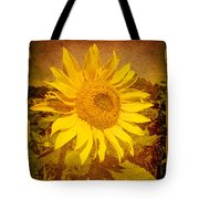 Of Sunflowers Past Tote Bag
