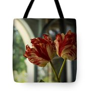 Of Tulips And Windows Tote Bag