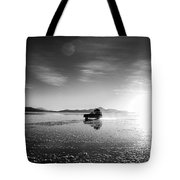 Off Road Uyuni Salt Flat Tour Black And White Tote Bag