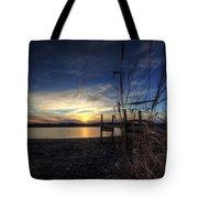 Off Season Sunset At The Lake Tote Bag