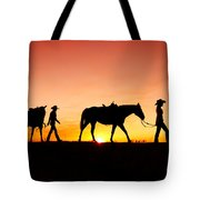 Off To The Barn Tote Bag