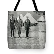 Officers At Camp Newayo, New York State Tote Bag