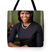 Official Portrait Of First Lady Michelle Obama Tote Bag