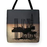 Offshore Drill Rig Platform Tote Bag