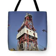Offshore Drilling Tower Tote Bag