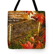 Oh How I Love Autumn With Poetry Tote Bag