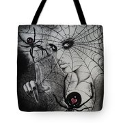 Oh What Tangled Webs We Weave Tote Bag