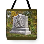 Ohio At Gettysburg - 29th Ohio Volunteer Infantry Autumn Mid-afternoon Culp's Hill Tote Bag