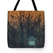 Ohio Bird House At Sunset Tote Bag