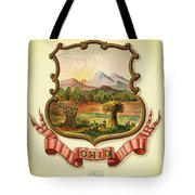 Ohio Coat Of Arms - 1876 Tote Bag
