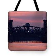 Ohio River Railroad Bridge Tote Bag