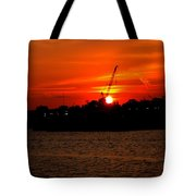 Ohio River Sunset Tote Bag
