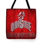 Ohio State Buckeyes Barn Door Vignette Tote Bag