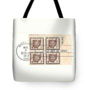 Ohio Three Cent Stamp Plate Block Tote Bag