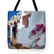 Oia Town Tote Bag