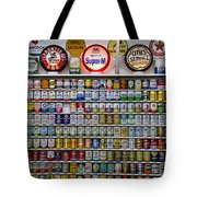 Oil Cans And Gas Signs Tote Bag by Garry Gay